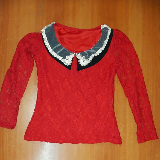 Blouse Merah Uk.M