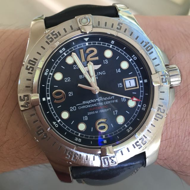 cheap for discount 2a758 fcf40 Breitling SuperOcean Steelfish A17390, Luxury on Carousell