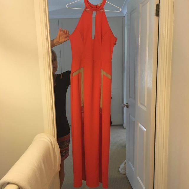 Coral Red Formal Dress