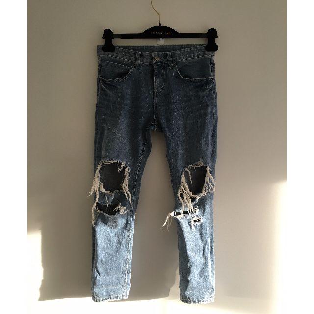 Denim Ripped Mom Jeans