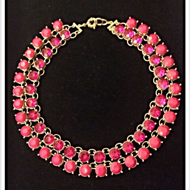 Korean Pink Stones Statement Fashion Necklace Not Zara H&M