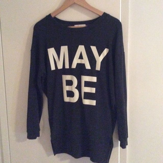 Grey Sweater Pull Over With Logo