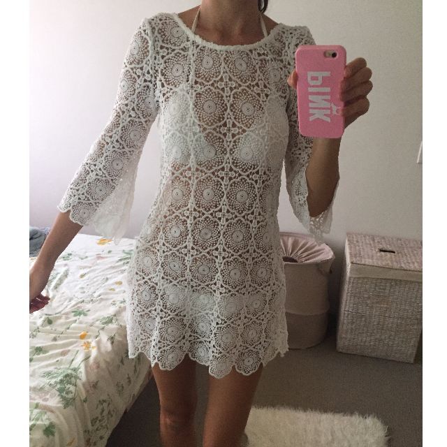 H&M white beach dress