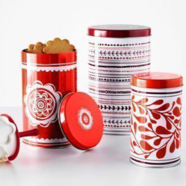IKEA Tin Containers (Set Of 3)