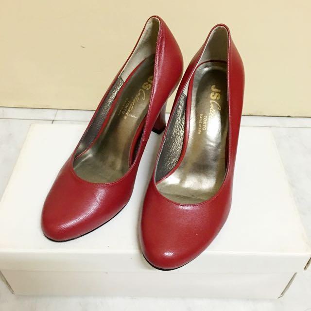 34號 專櫃JS 全新真皮高跟鞋