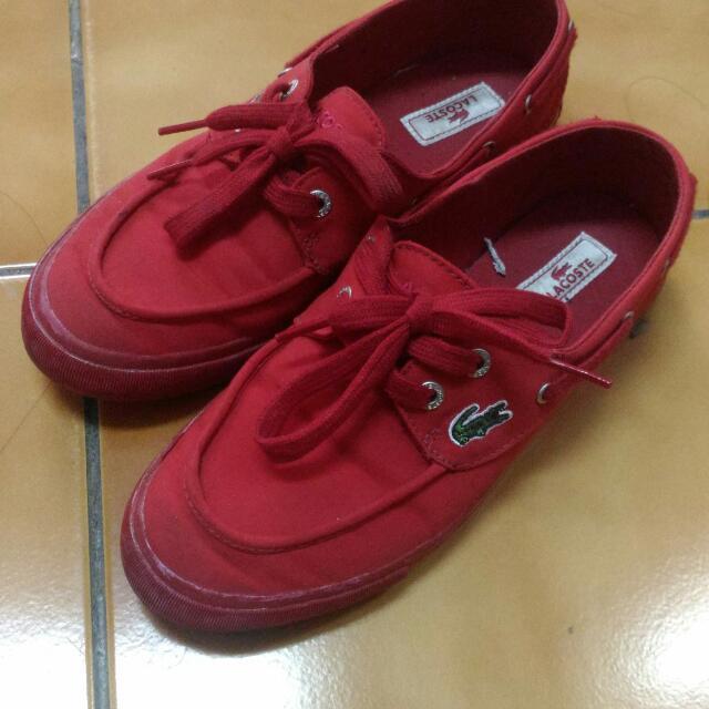 正版Lacoste 紅鞋