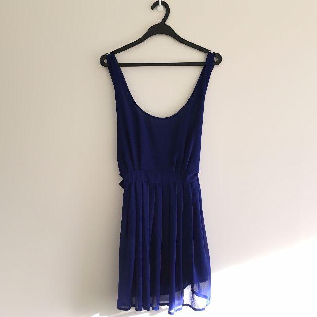 Low-Back Royal Blue Mini Dress