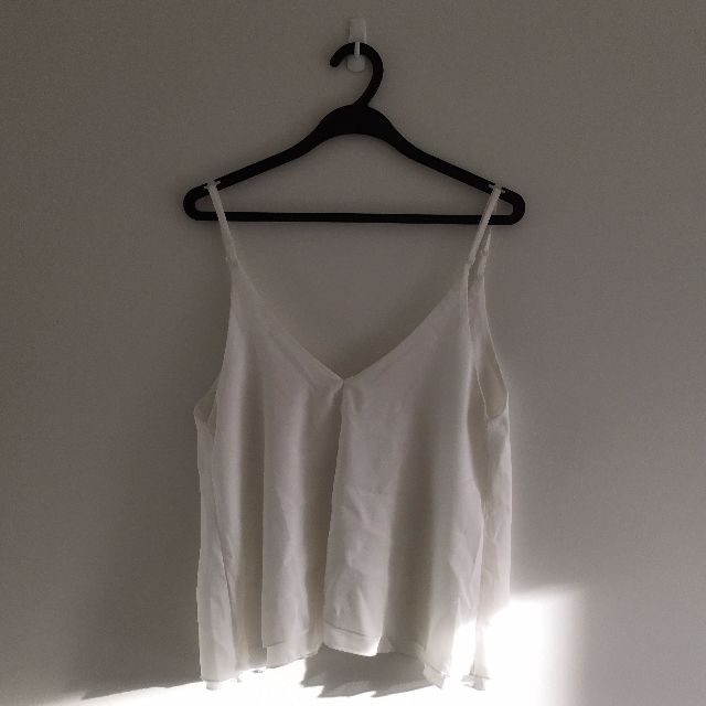 Low-back White Cami Top