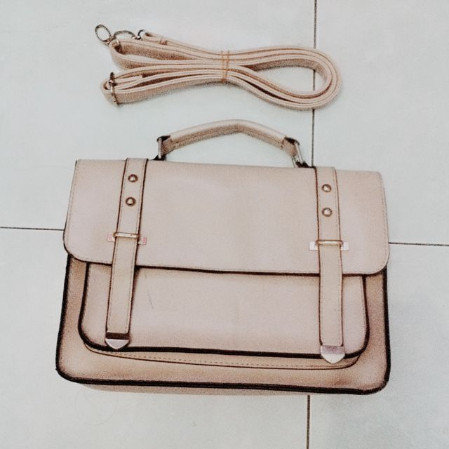 Nude Satchel Bag