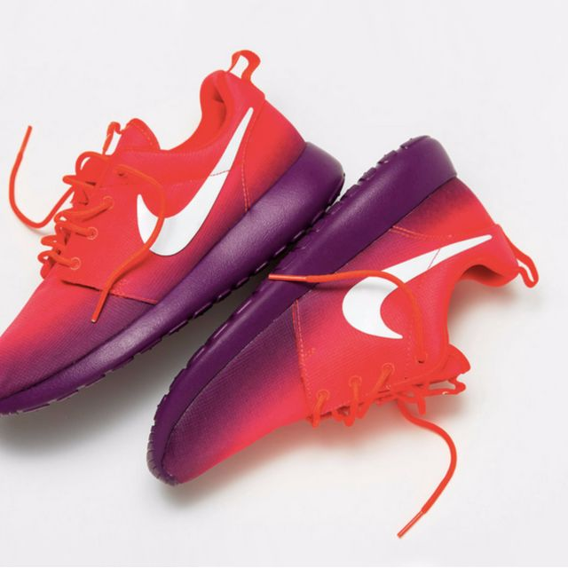 fb2f1f350207 reduced nike roshe run pink purple ombré sneakers 27800 f0a3b  coupon for  original nike roshe laser crimson ombre pink purple womens fashion on  carousell ...