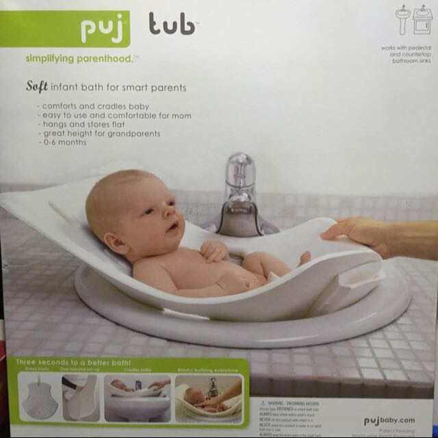 Puj Tub - over the sink tub perfect for travel and C-section mums ...