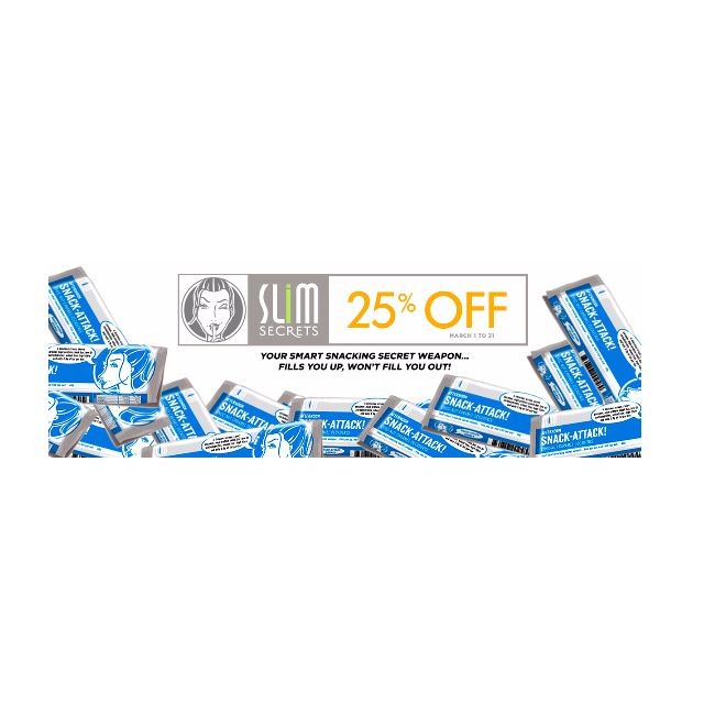 Slim Secrets Afternoon Snack Attack Bar