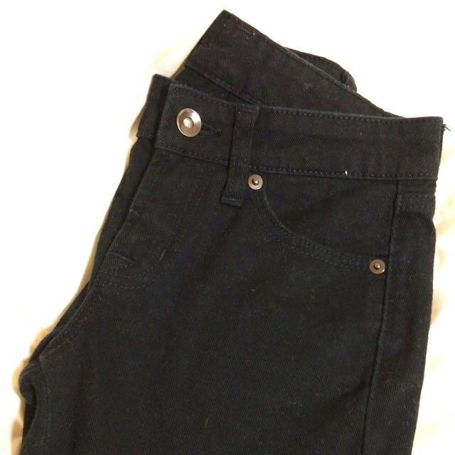 Uniqlo 黑色直筒褲 22腰
