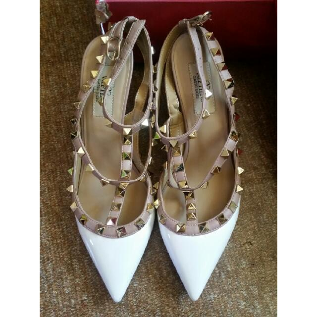 White Valentino Shoe Heel(original)