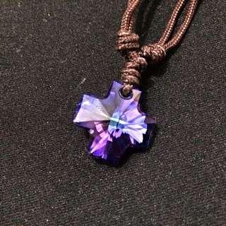 SWAROVSKI 幻彩紫十字水晶鏈
