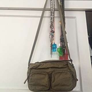 Army Green Side Bag