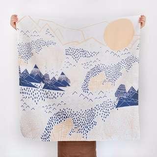 BRAND NEW: Mountain Blossom Furoshiki Scarf — Light