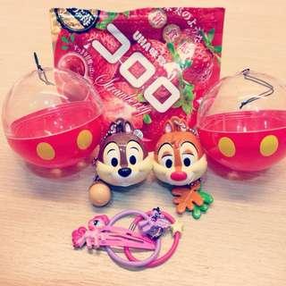 降價囉!!!日本東京迪士尼扭蛋奇奇蒂蒂一組售