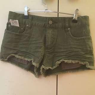Size 6 cargo denim shorts