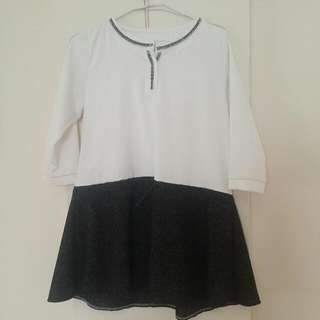白七分袖裙