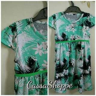 Dress Chame Green Flower