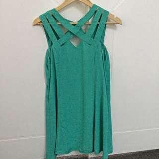 Gorgeous Low-back Turquoise Sundress Size 10