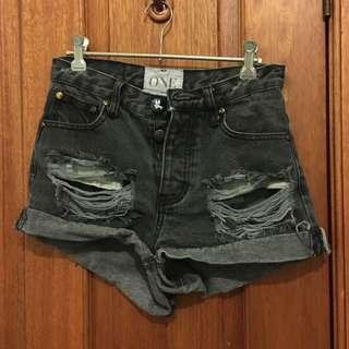 High Waisted One Teaspoon Shorts