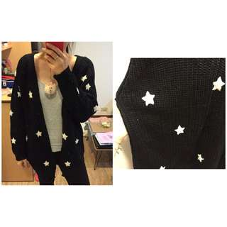 可愛星星針織外套