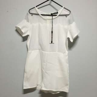 BNWT Fashion Union playsuit / White / Size 8