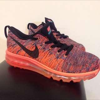 Nike Flyknit  Max 橘色編織慢跑鞋 運動鞋 US 8.5 EUR 42