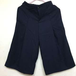 全新 深藍色寬褲