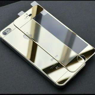Iphone 6 Plus Screen Protector Case Colourful Mirror Tempering Front And Back Hight Quality Hard Electroplate