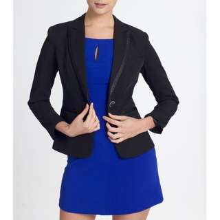 Brand New Black Blazer With Detailed Collar