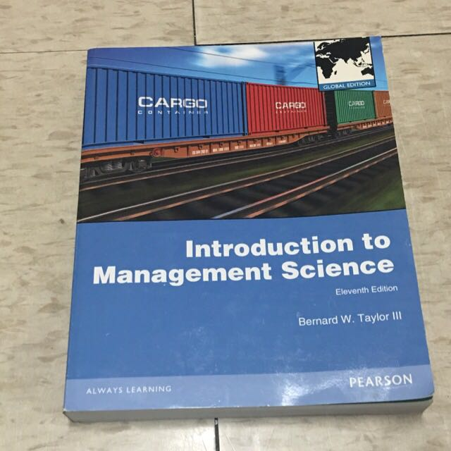‼️9.5成新‼️ Introduction To Management Science 管理科學