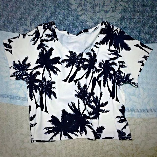 (免運全新)椰子樹短版上衣