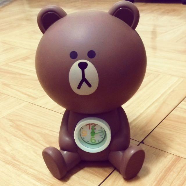 (全新)熊大時鐘存錢筒