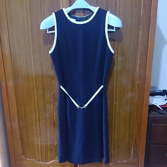 海軍腰身氣質洋裝