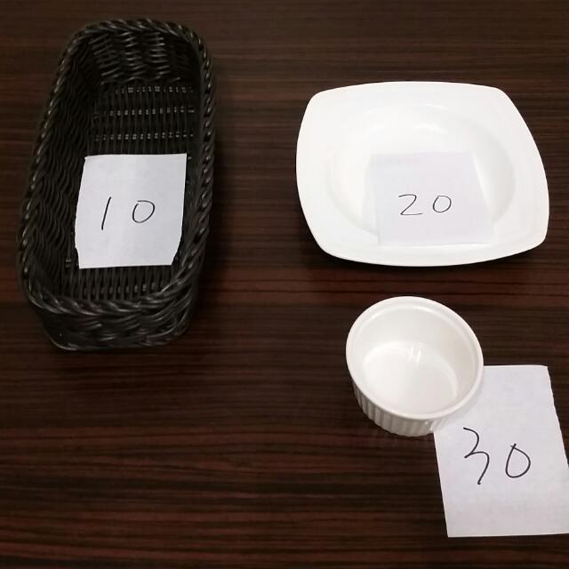 餐廳必備~長方籃,布丁杯,炸品盤(數量價格如說明)