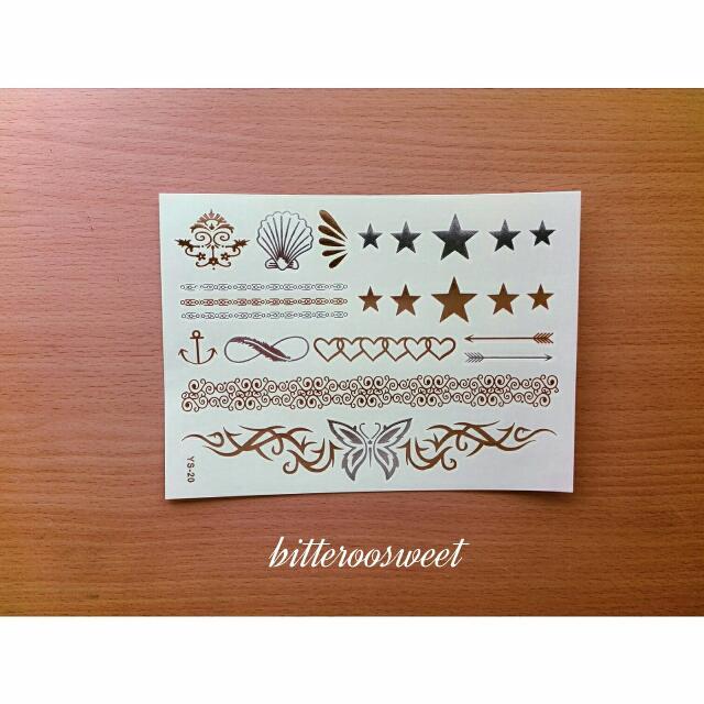 燙金刺青貼紙/紋身貼紙