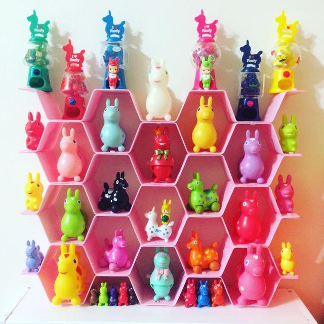 玩具公仔展示收納/ 六角蜂巢型隔板/粉色現貨/8片一組