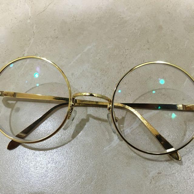 圓框復古眼鏡 有度數