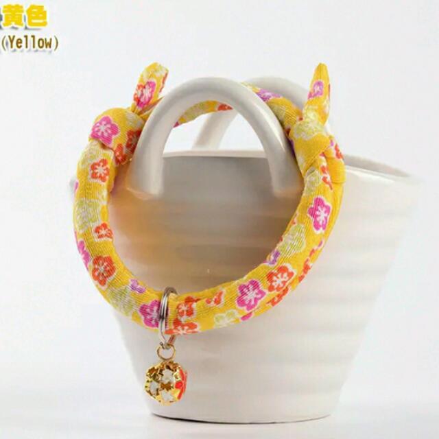 鈴鐺項圈  [商品顏色] 黃色