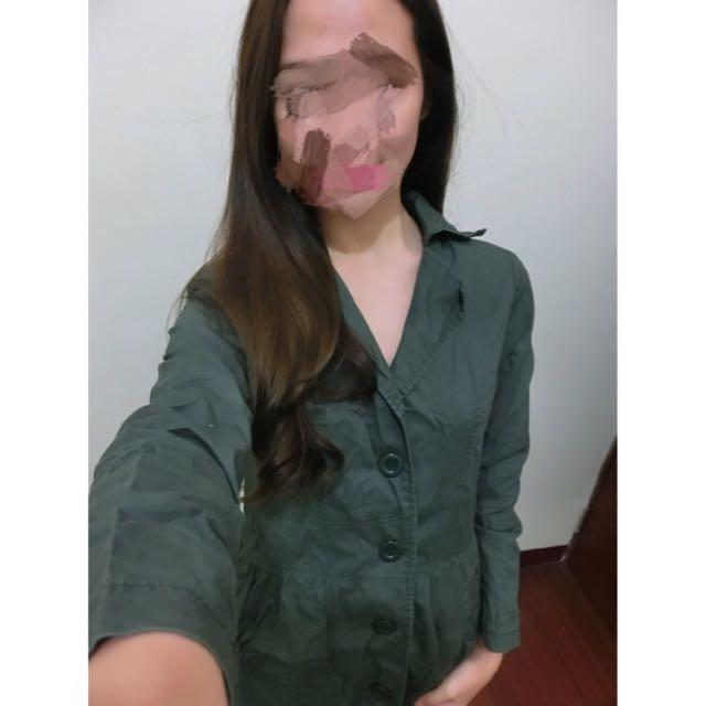 墨綠 暗綠 洋裝 二手