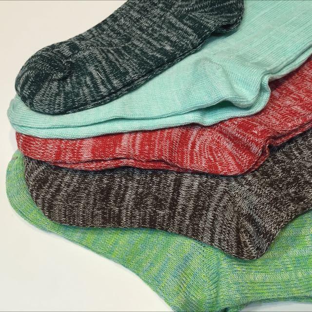 雪花襪 女款 中筒襪 混麻色 5色