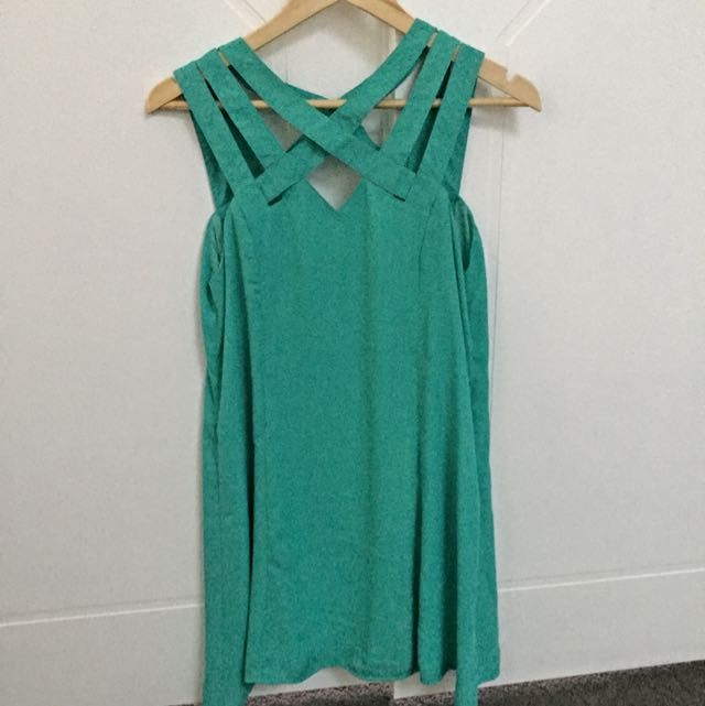 Gorgeous Low-back Turquoise Sundress Size 10