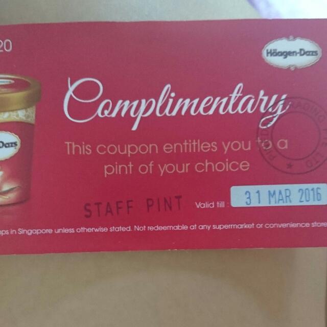haagen dazs coupon
