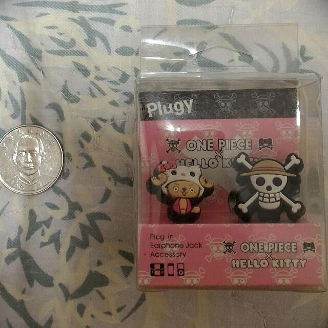 哈囉凱蒂Hello Kitty & 喬巴 合體 耳機孔塞