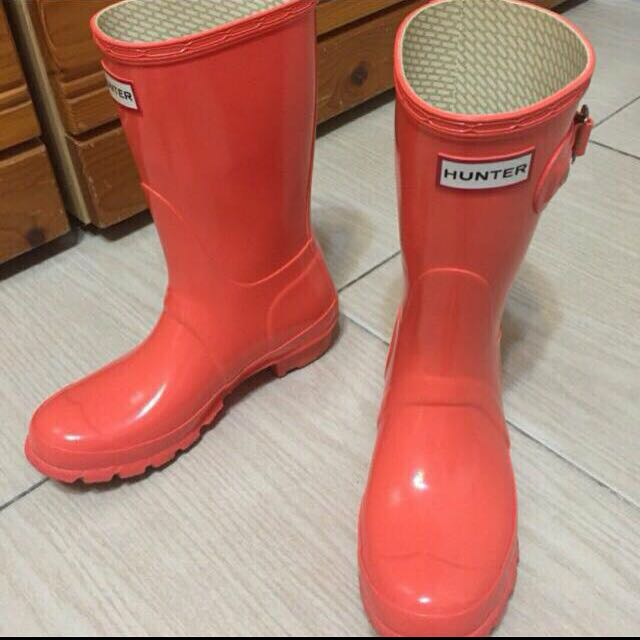 Hunter Boots短雨靴 亮橘~