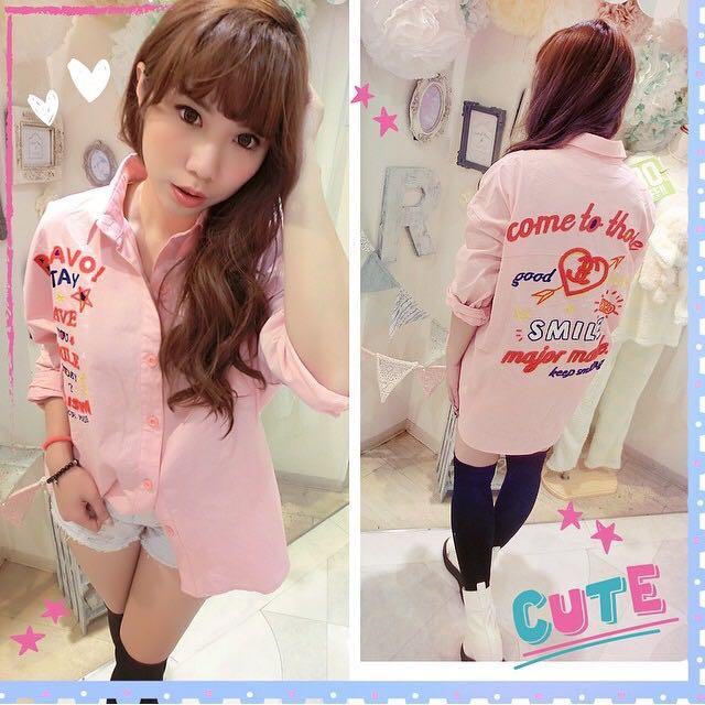 Major Made 粉色襯衫
