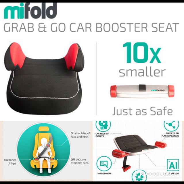 MIFOLD - PORTABLE BOOSTER CAR SEAT ~ #kids, travel, taxi, safety ...